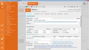 Gestor nexo PRO formularz zadania z zaplanowaną akcją automatyczna