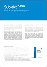 Ulotka zawiera najważniejsze informacje o programie - opis funkcjonalności, korzyści płynące z użytkowania systemu oraz cennik.